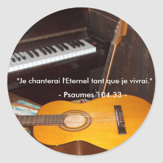 Autocollant/Je Will sing the Eternal Classic Round Sticker