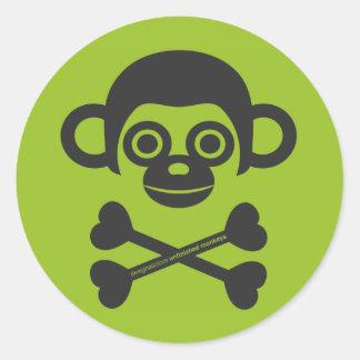 Autocollant non fini de logo de singes