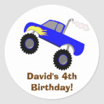 Autocollant personnalisé par anniversaire de camio