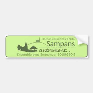 Autocollant pour voiture Sampans autrement