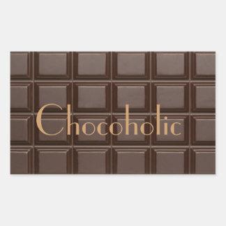 Autocollant rectangulaire de barre de chocolat