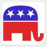 Autocollant républicain de carré d'éléphant