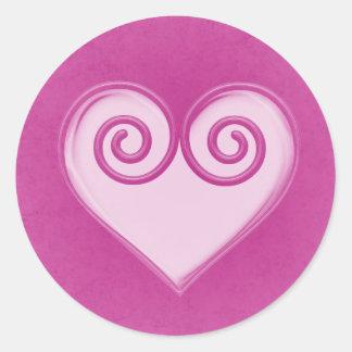 Autocollant rose de coeur de fantôme
