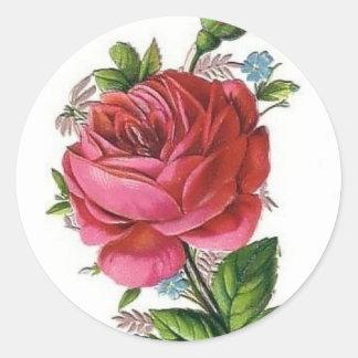 Autocollant rose de cru