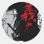 Autocollant samouraï foncé de GI