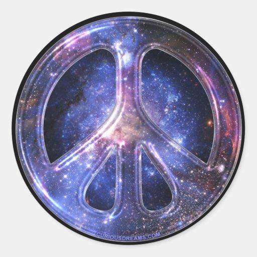 Autocollant universel de paix