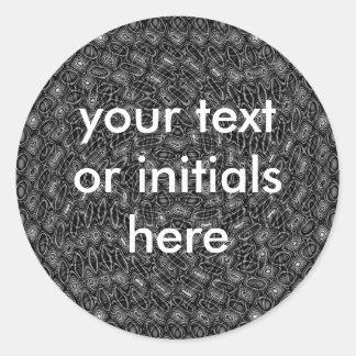 Autocollants abstraits noirs et blancs pour votre