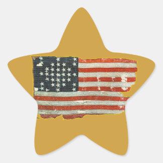 Autocollants antiques vintages de drapeau américai