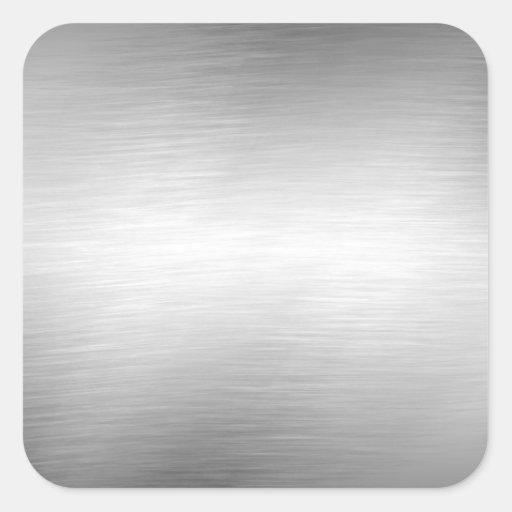 Autocollants balayés de regard en métal