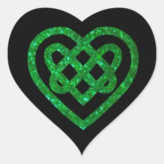 Autocollants celtiques de noeud de coeur de
