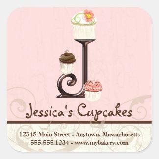 Autocollants d'affaires de logo de petit gâteau de