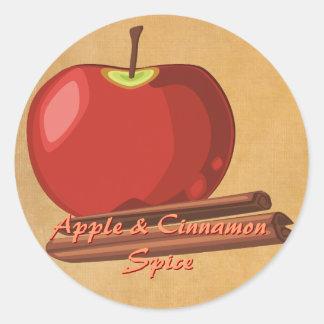 Autocollants de cannelle d'Apple