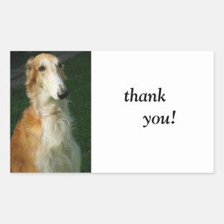Autocollants de chien de photo de chien de barzoï