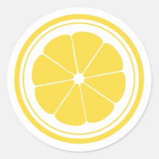 Autocollants de citron de stand de limonade