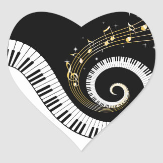Autocollants de clés de piano et de notes de