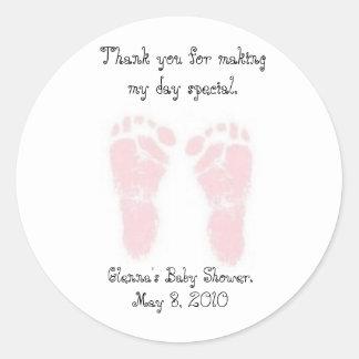 Autocollants de faveur de baby shower