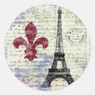 Autocollants de la France de Tour Eiffel