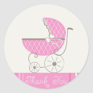 Autocollants de Merci de baby shower