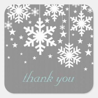 Autocollants de Merci de flocons de neige et d éto