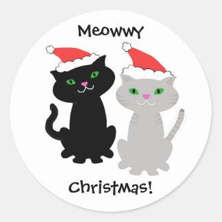 Autocollants de Noël de chat