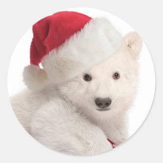 Autocollants de Noël de CUB d'ours blanc