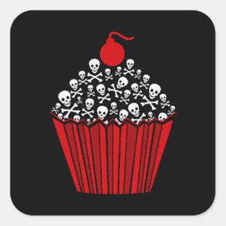Autocollants de petit gâteau de crâne