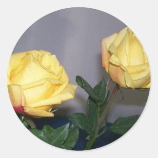 Autocollants de roses jaunes