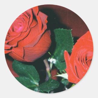 Autocollants de roses rouges