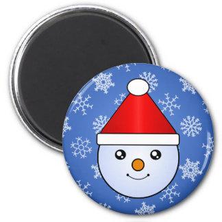 Autocollants de vacances d'enfant de neige de magnet rond 8 cm