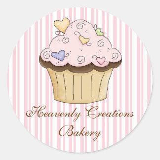 Autocollants doux de boulangerie de petit gâteau