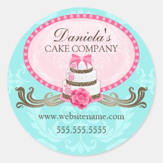 Autocollants élégants de boulangerie de gâteau et