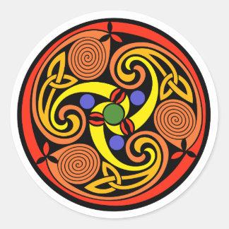 Autocollants en spirale celtiques