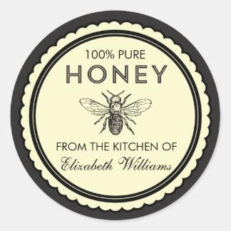 Autocollants faits maison vintages de miel