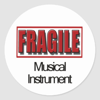 Autocollants fragiles d'instrument de musique