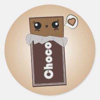 Autocollants mignons de barre de chocolat
