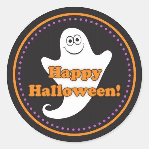 Autocollants mignons heureux de fantôme de Hallowe