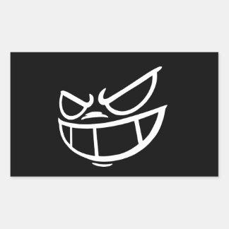 Autocollants noirs et blancs de Smile™ fantôme de