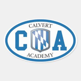 Autocollants ovales d'académie de Calvert (placez