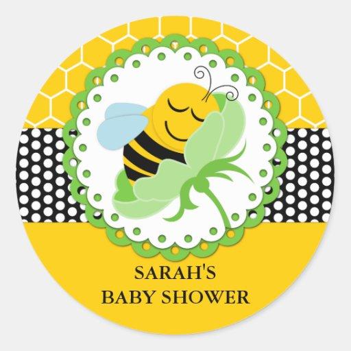 Autocollants personnalisés par baby shower