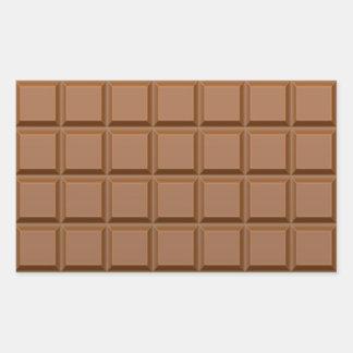 Autocollants rectangulaires de chocolat