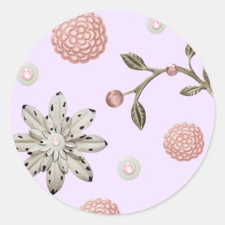Autocollants romantiques de fleur en métal de Jane