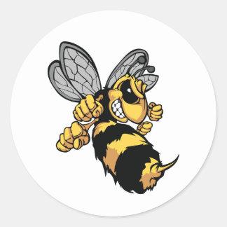 Autocollants très fâchés d'abeille