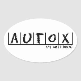 Autocross Anti-Drug Oval Sticker