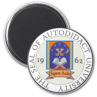 Autodidact University Seal 2 Inch Round Magnet