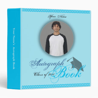 Autograph Graduation Book Binder Boy Blue