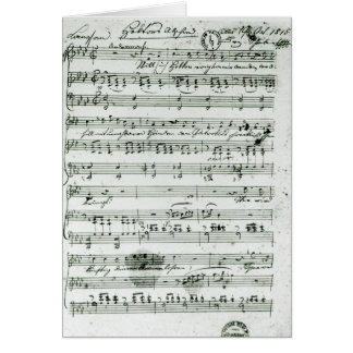 Autograph score for the lied 'Hektors Abschied' Card