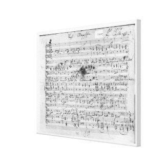 Autograph score for the lied 'Trost' Canvas Print
