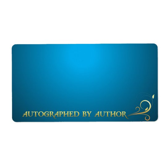 Autographed by Author Gold on Blue