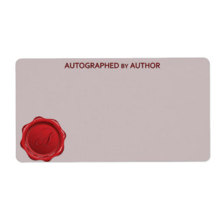 Autographed by Author Wax Seal A