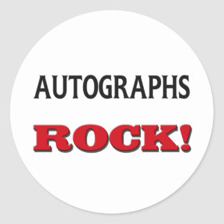 Autographs Rock Classic Round Sticker
